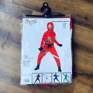 Charades ninja red avengers series 2 costume NWT S